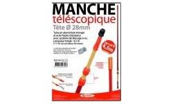 MANCHE TELESCOPIQUE 4.5 M AVEC TETE FIXE