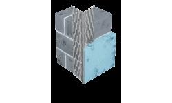 Profilé d'angle déployé en acier galvanisé sans jonc PVC